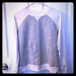 Eddie Bauer quilted lightweight sweatshirt